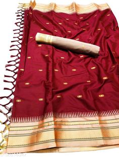 Sarees Hirkal Traditional Paithani Silk Sarees With Contrast Blouse Piece (H8_Wine Red & Cream)  Saree Fabric: Silk Blend Blouse: Separate Blouse Piece Blouse Fabric: Silk Blend Pattern: Woven Design Blouse Pattern: Woven Design Multipack: Single Sizes:  Free Size (Saree Length Size: 5.3 m, Blouse Length Size: 0.8 m)  Country of Origin: India Sizes Available: Free Size   Catalog Rating: ★4 (469)  Catalog Name: Aakarsha Fashionable Sarees CatalogID_2303917 C74-SC1004 Code: 956-12814047-