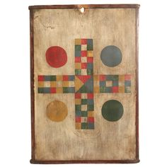 Graphic Painted Parcheesi Gameboard