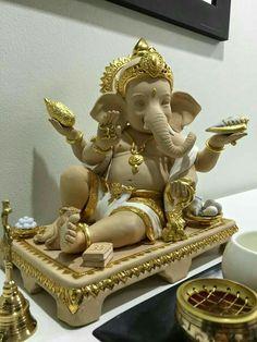 On Gam Ganapataye Namaha Lor Ganesha Jai Ganesh, Ganesh Lord, Ganesh Idol, Ganesh Statue, Shree Ganesh, Clay Ganesha, Ganesha Art, Ganesha Pictures, Ganesh Images