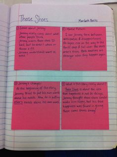 Reader's Notebook -- Guided Post-its from an Interactive Read Aloud - Loads of images from Interactive Read Aloud notebooks. Reading Lessons, Reading Strategies, Teaching Reading, Reading Comprehension, Guided Reading, Reading Groups, Reading Resources, Reading Activities, Math Lessons