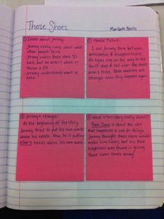 Reader's Notebook -- Great ideas