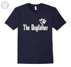 Mens The Dogfather Dog Lover Dad Shirt Men Funny Father's Day XL Navy - Funny shirts (*Amazon Partner-Link)