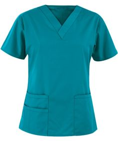 Origins Bravo Lady Fit V-Neck Top in Real Teal - WonderWink Scrubs Scrubs Outfit, Scrubs Uniform, Medical Scrubs, Nursing Scrubs, Nursing Clothes, Scrub Jackets, Womens Scrubs, Scrub Pants, Scrub Tops