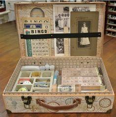 #ROAKDIY Collage supply suitcase