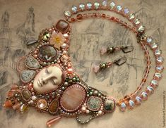 Bead Embroidery Jewelry, Beaded Embroidery, Beaded Jewelry Designs, Schmuck Design, Jewelry Findings, Bronze, Beads, Bracelets, Leather