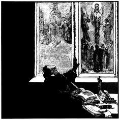 Josef Váchal:, Mystikové a visionáři (Mystics and Visionarists), 1913 (woodcut) via http://www.vachal.cz/