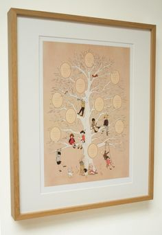 Stick photos, drawing or momentos of those that are special to you, in the 11 spaces nestled in the branches of our brand new Belle & Boo family