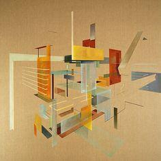 "Artist Daniel Mullen (Dutch: 1985) - Oil 2013 Painting ""Resurrecting the Monumental"""