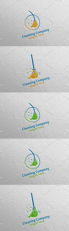 Cleaning Service Eco Friendly Logo