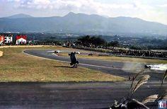 Gilles practising flying over Fuji
