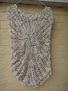 Tie Dye Hand crochet blouse / Fashion sweater / Loose and comfortable wrap / Hollow out vest