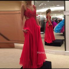 Lace prom dress Chiffon prom dress red prom dress Sexy prom dresses prom dresses 2017 Cheap prom dresses Long prom dress sold by BallaDresses. Shop more products from BallaDresses on Storenvy, the home of independent small businesses all over the world. Straps Prom Dresses, Open Back Prom Dresses, Prom Dresses For Teens, Prom Dresses 2017, Beaded Prom Dress, Backless Prom Dresses, Prom Gowns, Party Dresses, Gown 2017