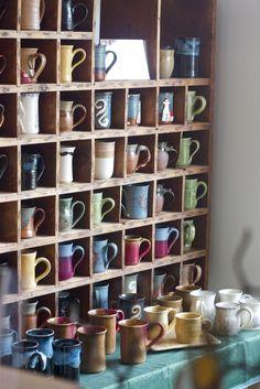 shelf just for coffee mugs!