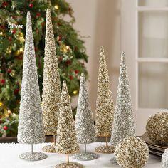 Bead and Pearl Tree Diy Christmas Lights, Cone Christmas Trees, Unique Christmas Trees, Decorating With Christmas Lights, Easy Christmas Crafts, Elegant Christmas, Beautiful Christmas, Merry Christmas, Diy Christmas Tree Decorations