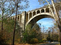 Blairstown, NJ - visit the Paulinksill Viaducts and Lakota Wolf Preserve. Hike nearby Delaware Water Gap National Recreation Area or Bushkill Falls. Lakota Wolf Preserve, Bushkill Falls, Delaware Water Gap, Railroad Bridge, Thing 1, Lehigh Valley, The Other Side, How To Level Ground, Abandoned Places