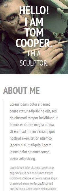 Design Needs Time... Art & Photography website inspirations at your coffee break? Browse for more Responsive JavaScript Animated #templates! // Regular price: $69 // Sources available: .HTML, .PSD #Art #Photography #MostPopular #Responsive #JavaScript #Animated #art #site #gallery #exhibition #biography #artist #sculpture #Tom #sculptor #talent #cooper