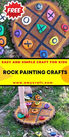 Tic Tac Toe Rocks - Easy Popsicle Crafts for Kids. Click to Find the Tutorial Here! #DIY #Popsicle #Craft Creative Arts And Crafts, Easy Crafts For Kids, Creative Kids, Popsicle Crafts, Rock Painting Ideas Easy, Kid Rock, Tic Tac, Elementary Schools, Painted Rocks