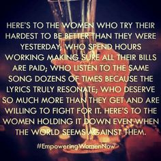Been here ~ so to all you women going through this ~ hang tight & be strong. Things will get better❤