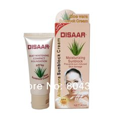 Find More Facial Sunscreen Information about wholesale Disaar aloe vera sunblock cream whitening skin SPF 60 Moisturizing prevent sun damaged BB cream,High Quality Facial Sunscreen from Ying Ying TCM Health Care on Aliexpress.com