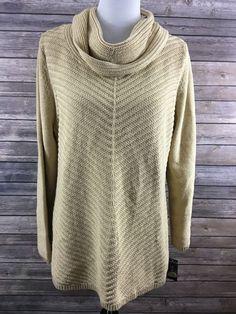 Style & Co. Women'd Gold Metallic Cowl Neck Sweater Size XL NEW #StyleCo…