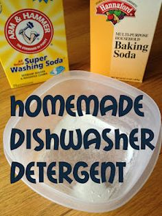 Homemade dish detergent- 3 cups washing soda, 1 cup baking soda