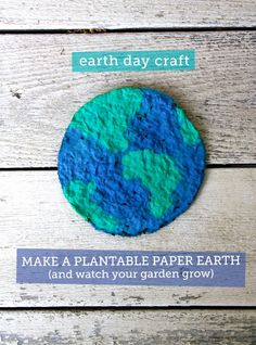 DIY: make a plantable paper earth and watch your garden grow -  We're doing this for Earth Day! #earthday #diyearthday
