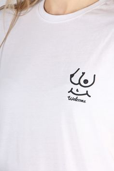 This Is Welcome, Smiley Boobies T-Shirt - white | GOOD AS GOLD | NZ