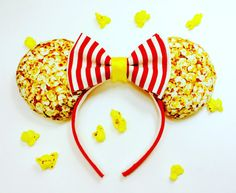 Popcorn Mouse Ears Minnie Mouse Ears Handmade by WisheryEarMakers