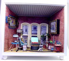 This is amazing: American Girl AG Mini Illuma Room Box Miniature Apartment Loft Transformer | eBay