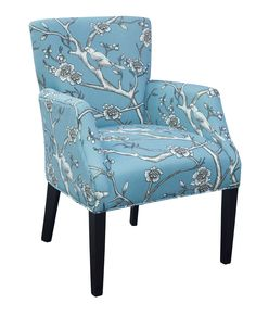 193 Accent Chair in Vintage Blossom Jade by Brentwood Classics