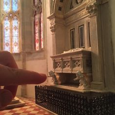 See How a Brooklyn Artist is Creating a Miniature Scale-Model of a Gothic Cathedral from Scratch,Tomb Lions. Image Courtesy of Ryan McAmis