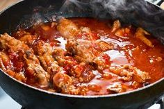 A delicious cinnamon-spiced chicken stew, Kapama is wonderful served over pasta or orzo and will fill your home with the most delightful aromas. Fried Chicken Drumsticks, Fried Chicken Legs, Chicken Spices, Stewed Chicken, Chicken Thighs, Stew Chicken Recipe, Chicken Drumstick Recipes, Chicken Recipes, Tasty