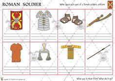 Teacher's Pet - Describing Roman Soldiers (colour) complex - Premium Printable Classroom Activities and Games - EYFS, KS1, KS2, ancient, rome, roman, britain, empire, british, soldiers, army