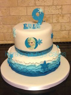 My nieces cake, the design has been tweaked from another on the web