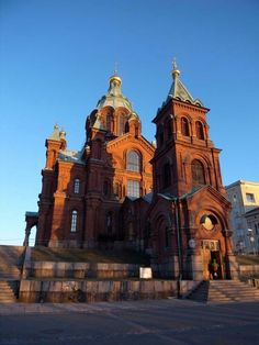 Drove By this church a lot. Very memorable Finnish Language, Scandinavian Countries, Old Churches, Helsinki, Places To Travel, Norway, Sweden, Places Ive Been, Travel Europe
