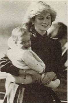 Princess Diana and prince William when he was still a baby