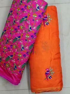 Jute gorgtte sarees with Embroidery work | Elegant Fashion Wear