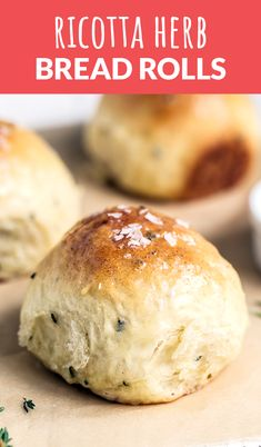 Ricotta Herb Bread Rolls - Handle the Heat #ricotta #herb #bread #rolls #dinnerrolls #breadrolls #ricottaherb #baking #dinner #dinnerrecipes #meals #breadrecipes #howtomakebread #handletheheat