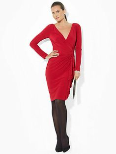Long-Sleeved Surplice Dress - Sale   Dresses - RalphLauren.com