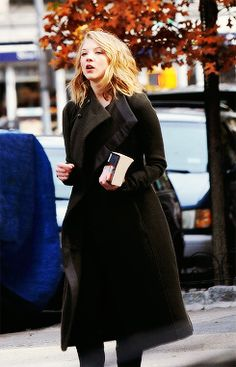 Natalie Dormer on the set of the second season of Elementary in NYC (Nov. 15)
