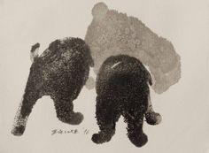 "Saatchi Art Artist Endre Penovác; Painting, ""Puli Puppies"" #art"