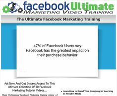 Get Facebook Ultimate Marketing Video Training 2016  How earn easy money with Facebook Secrets Tool 2016 FREE  (HOT) Link Here : http://jvz6.com/c/320661/91800   #usa #europe #free #facebook #video #girl #hot #marketing