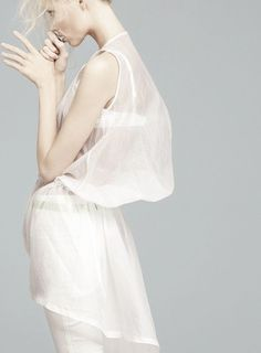 """""""Total White"""". Vika Falileeva by Emilio Tini forFlair May 2011"""