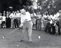 Dwight Eisenhower at Augusta   Do all presidents play golf?