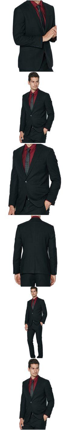 Men's suits the latest hot sale wool blended the groom work business suit a grain of buckle lapel men's suit