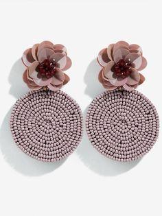 Fabric Earrings, Jewelry Design Earrings, Ear Jewelry, Bead Jewellery, Fabric Jewelry, Beaded Earrings, Beaded Jewelry, Crochet Earrings, Handmade Accessories