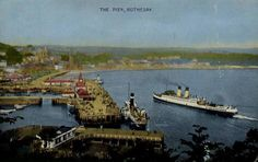 Rothesay Pier 1950. Isle Of Bute, Scottish Gaelic, Arran, Steamers, 12th Century, United Kingdom, Scotland, Castle, Ships