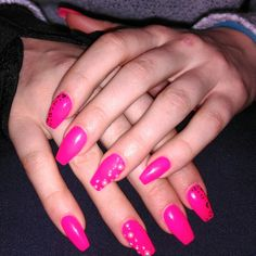 #nails #pinknails #barbiestyle #me #loveit