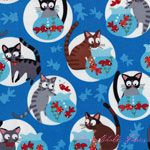 Timeless Treasures Cats and Fishbowls Blue [TT-C1076-Blue] - $10.45 : Pink Chalk Fabrics is your online source for modern quilting cottons and sewing patterns., Cloth, Pattern + Tool for Modern Sewists