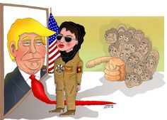 First Female Pilot in Afghanistan Requests Asylum in U.S  Cartoon by Atiqullah Shahid , fromAfg...